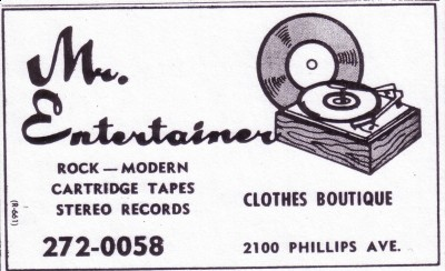 From the 1973 Greensboro phone book, an ad for George Bishop's record shop, ...